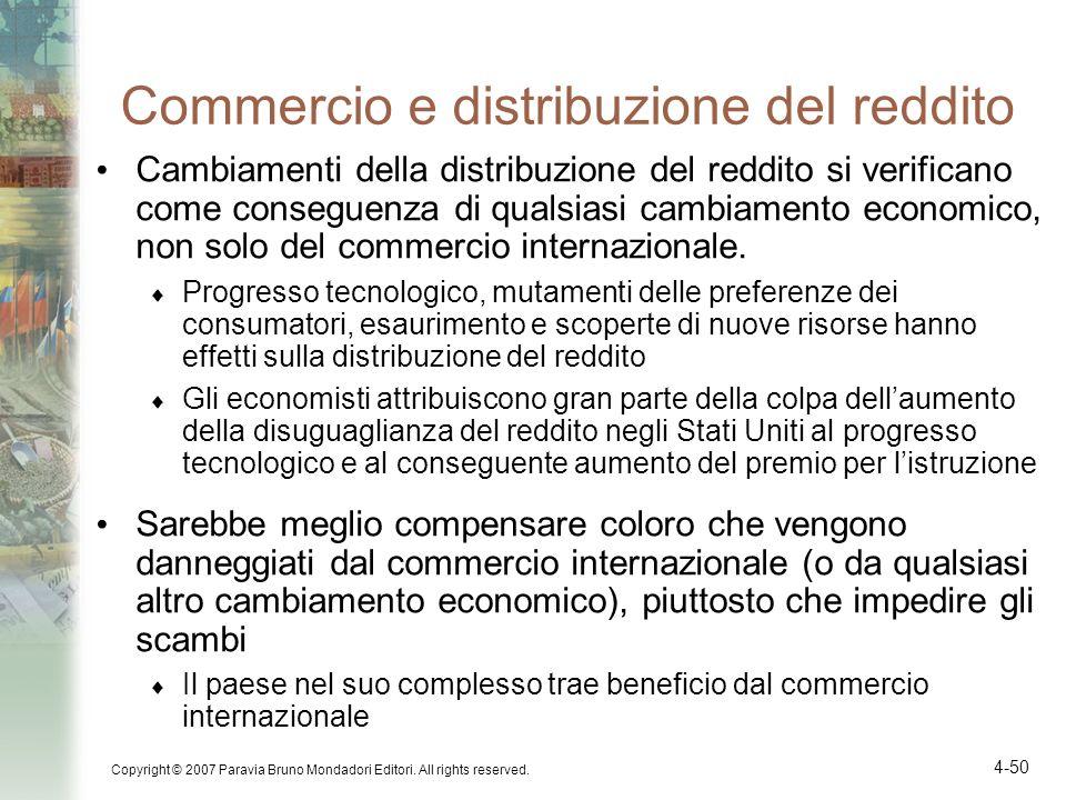 Commercio e distribuzione del reddito