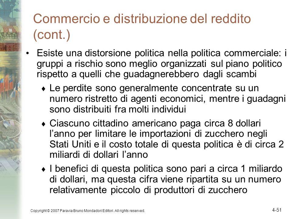 Commercio e distribuzione del reddito (cont.)