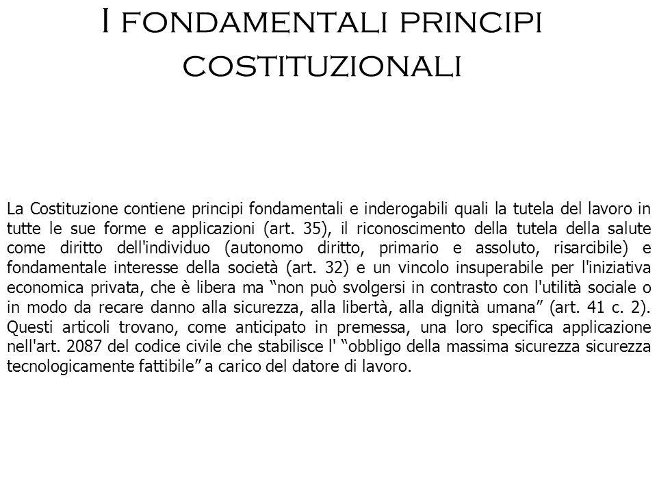 I fondamentali principi costituzionali