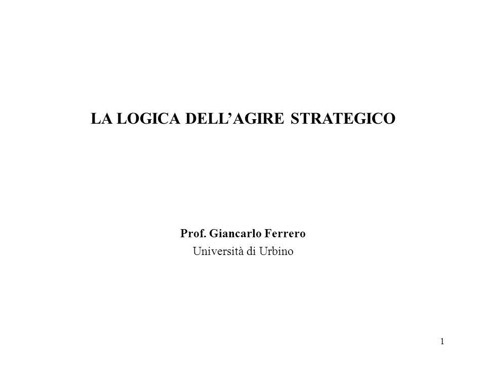 LA LOGICA DELL'AGIRE STRATEGICO