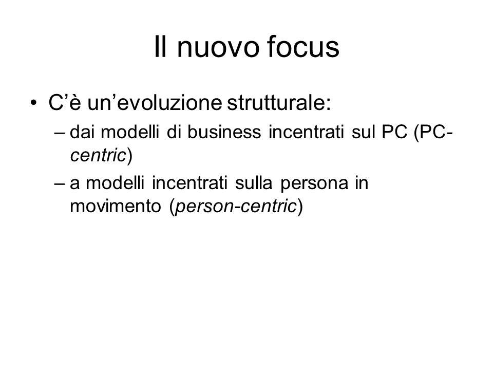 Il nuovo focus C'è un'evoluzione strutturale: