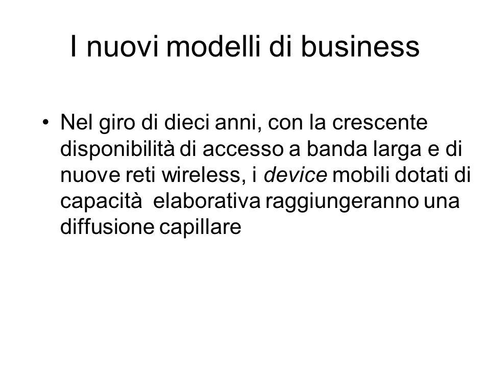 I nuovi modelli di business