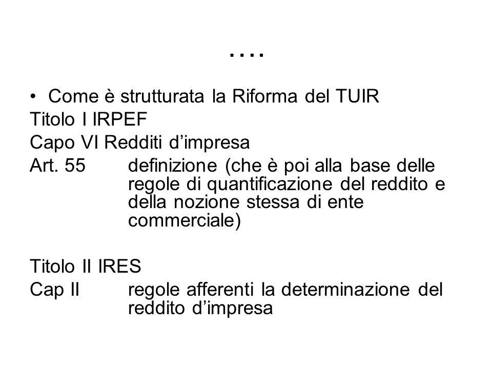 …. Come è strutturata la Riforma del TUIR Titolo I IRPEF