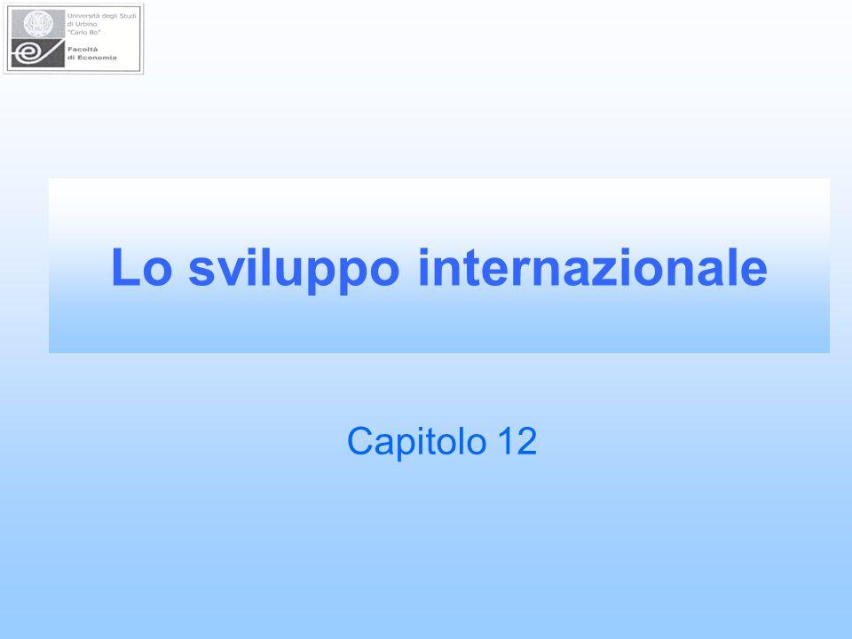 Lo sviluppo internazionale