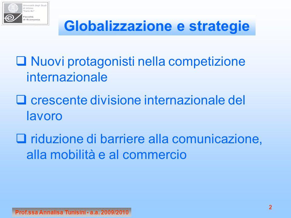 Globalizzazione e strategie