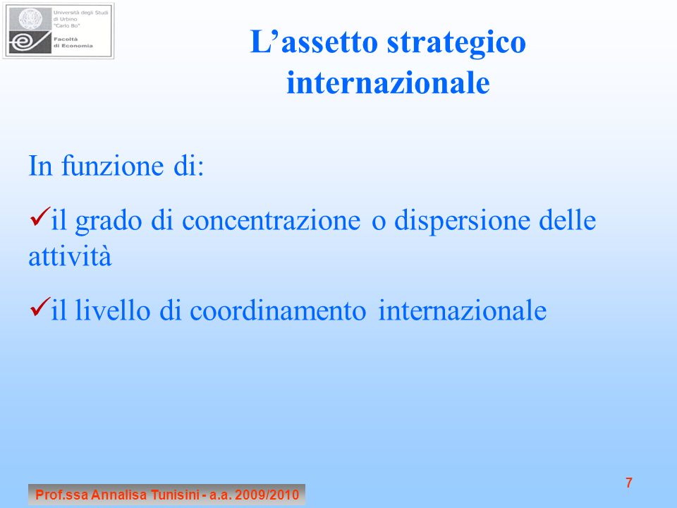 L'assetto strategico internazionale