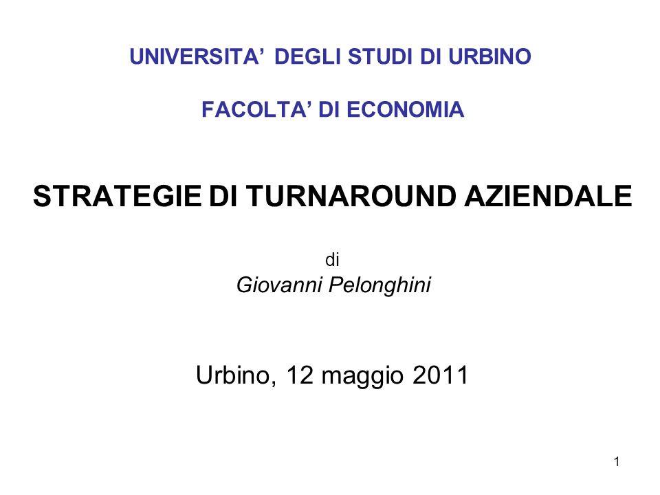 UNIVERSITA' DEGLI STUDI DI URBINO FACOLTA' DI ECONOMIA