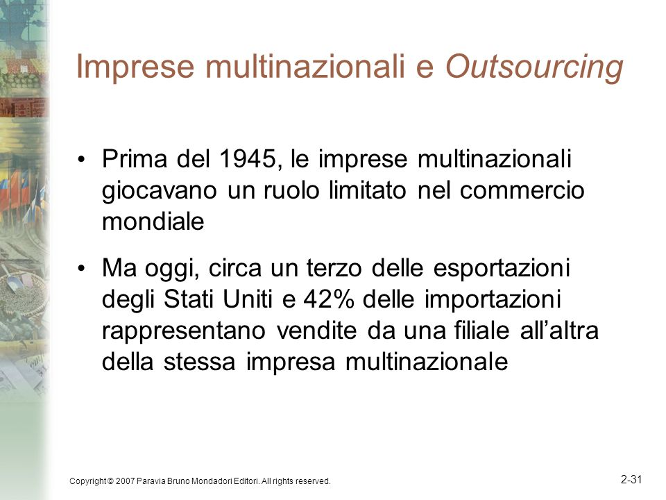 Imprese multinazionali e Outsourcing