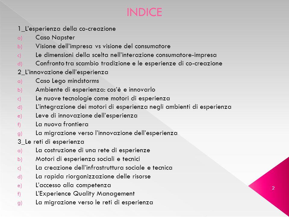 INDICE 1_L'esperienza della co-creazione Caso Napster