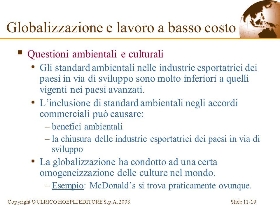 Globalizzazione e lavoro a basso costo