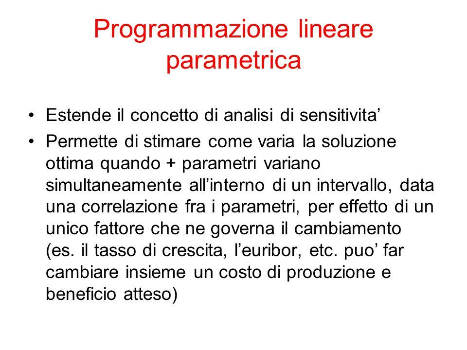 Programmazione lineare parametrica