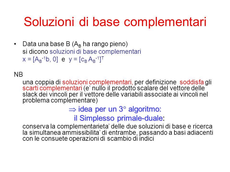 Soluzioni di base complementari
