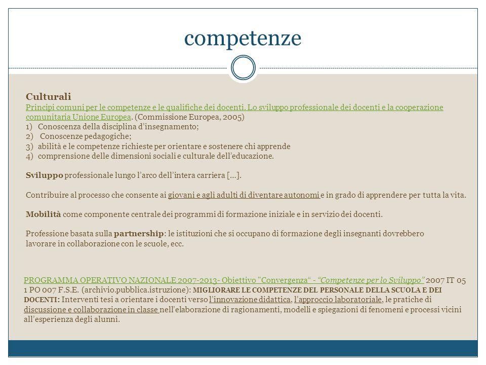 competenze Culturali.