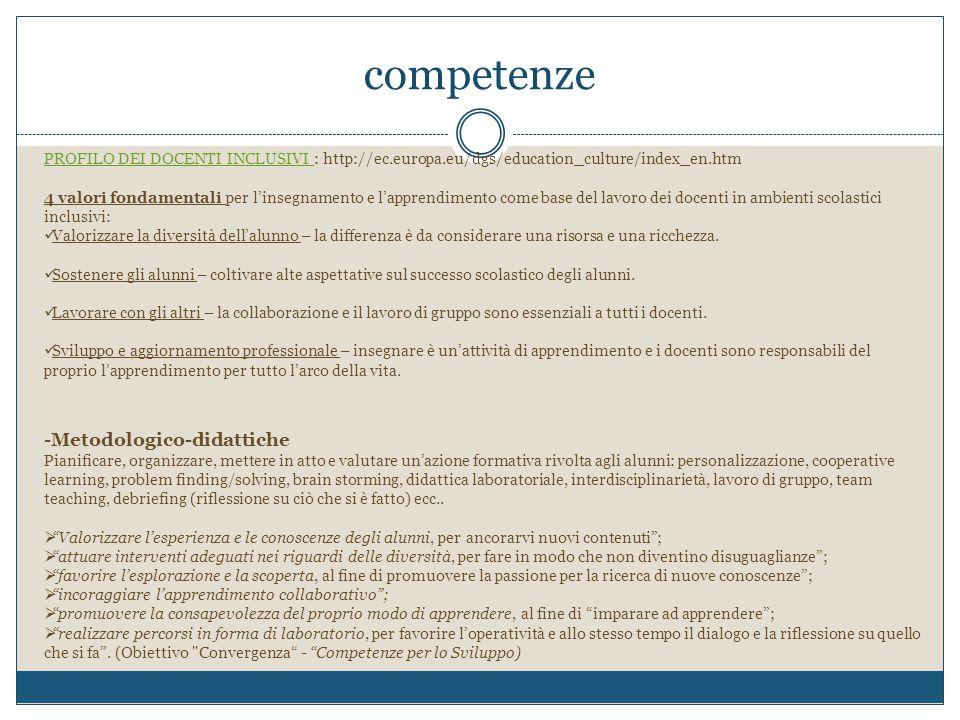 competenze -Metodologico-didattiche