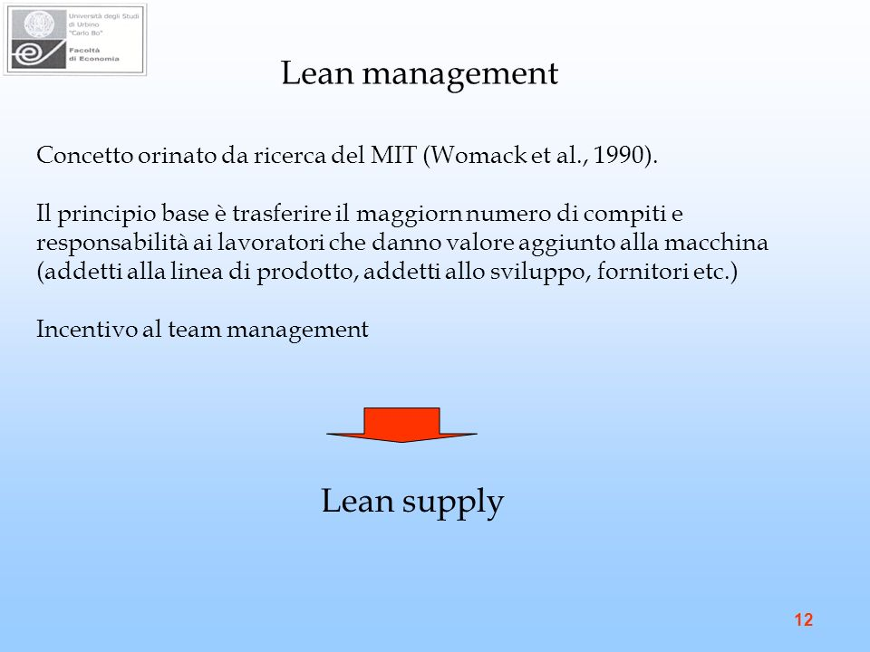 Lean management Lean supply