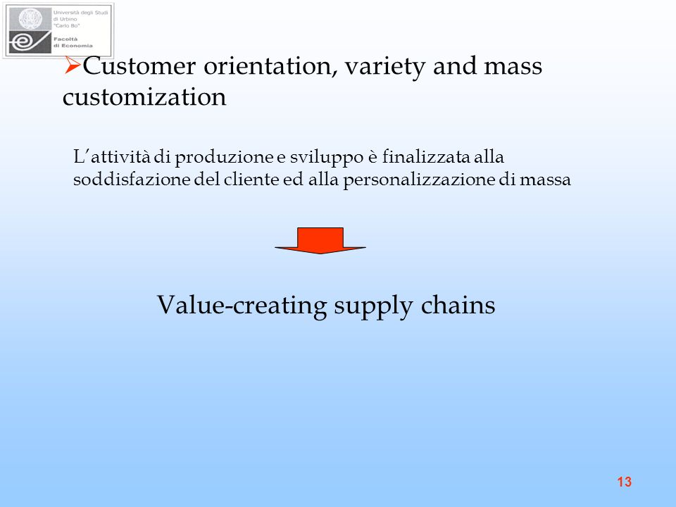 Value-creating supply chains