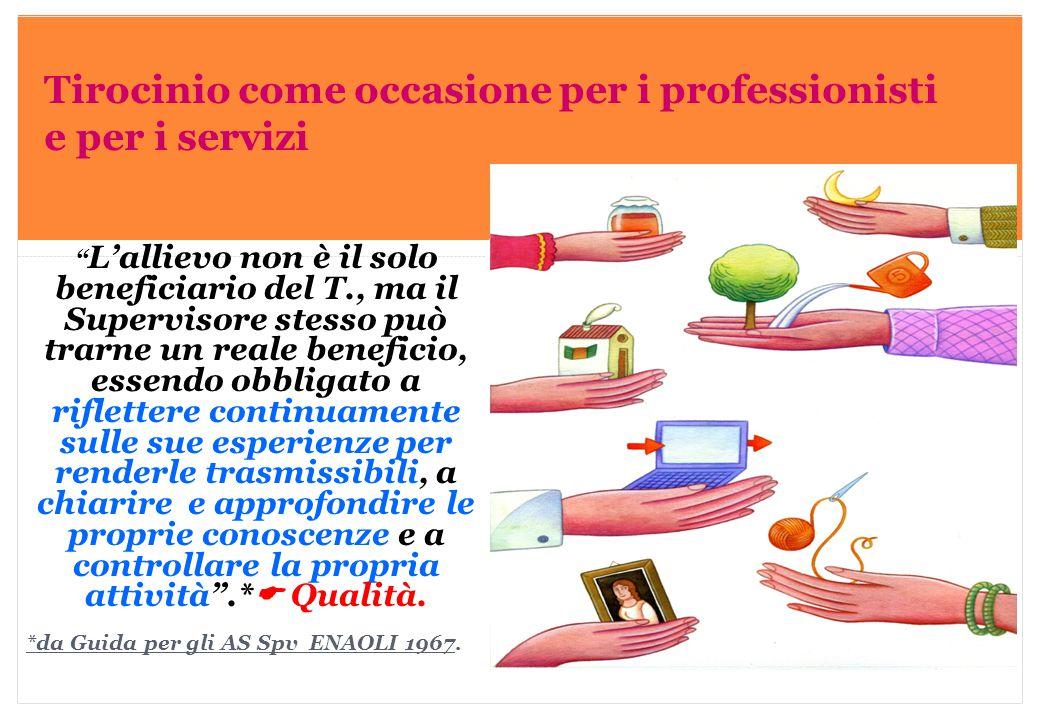Tirocinio come occasione per i professionisti e per i servizi