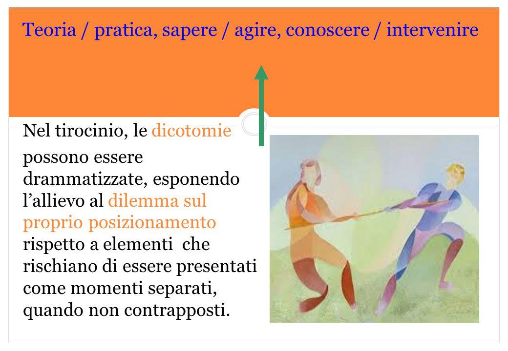 Teoria / pratica, sapere / agire, conoscere / intervenire