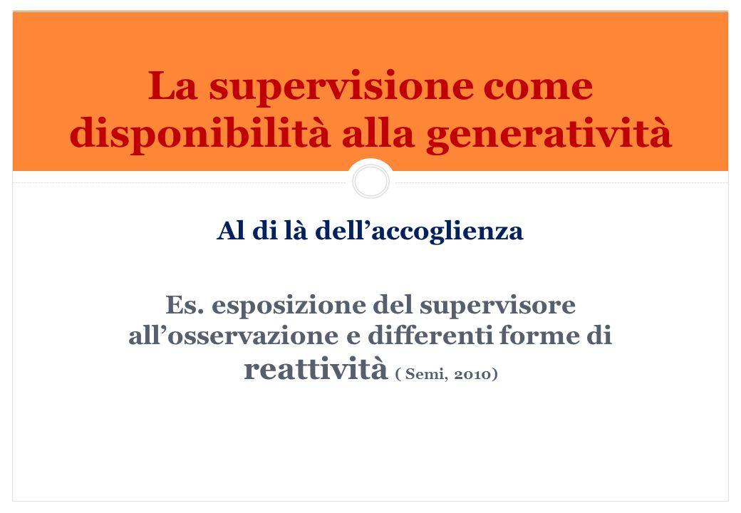 La supervisione come disponibilità alla generatività