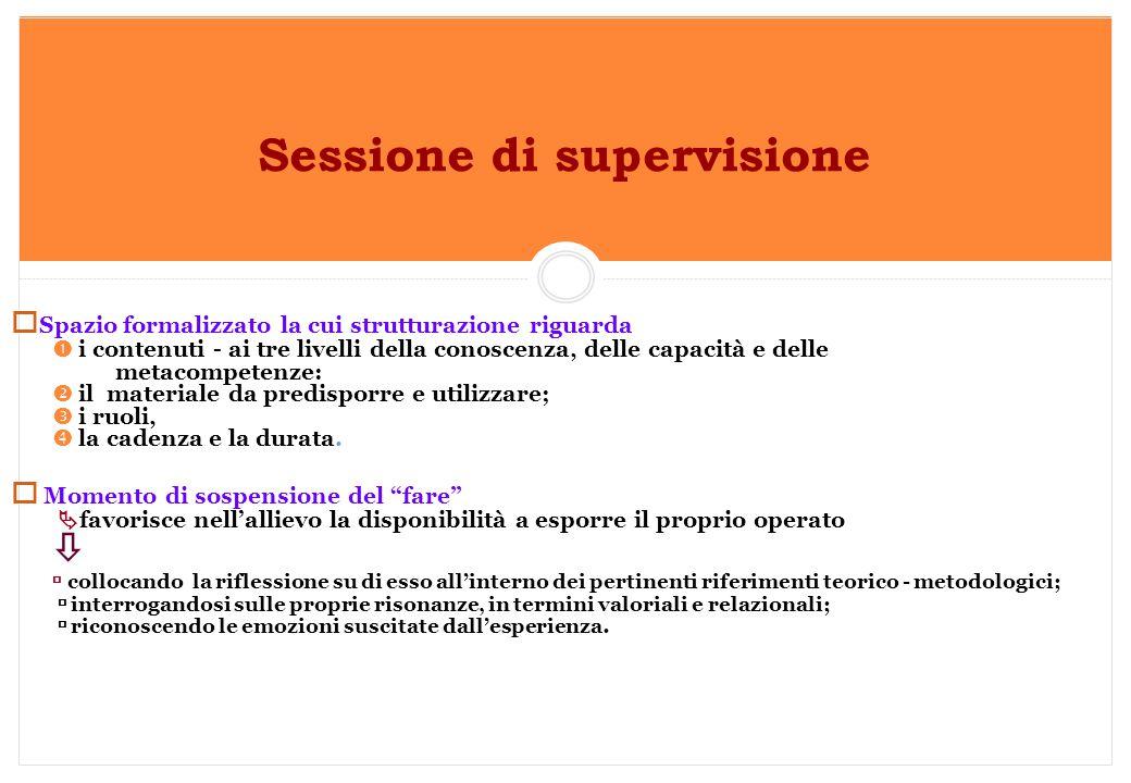 Sessione di supervisione