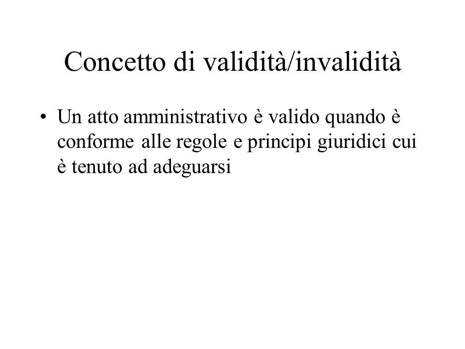 Concetto di validità/invalidità
