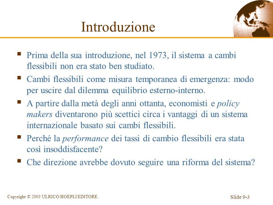 Introduzione Prima della sua introduzione, nel 1973, il sistema a cambi flessibili non era stato ben studiato.