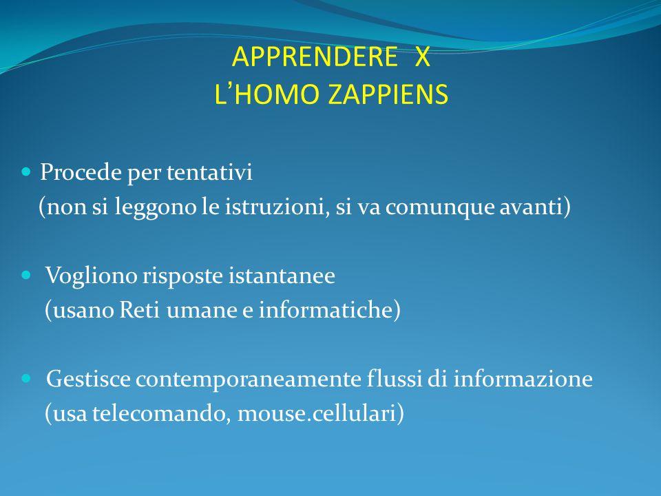 APPRENDERE X L'HOMO ZAPPIENS