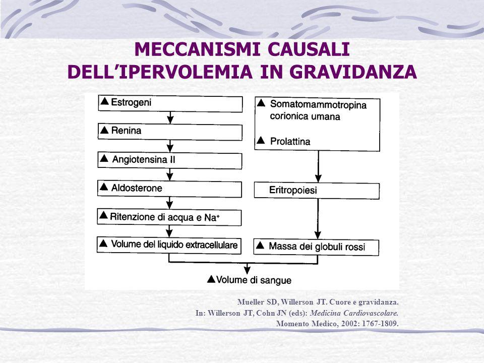 MECCANISMI CAUSALI DELL'IPERVOLEMIA IN GRAVIDANZA