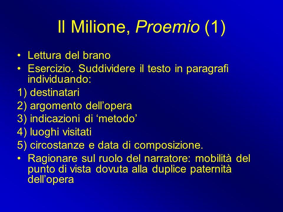 Il Milione, Proemio (1) Lettura del brano