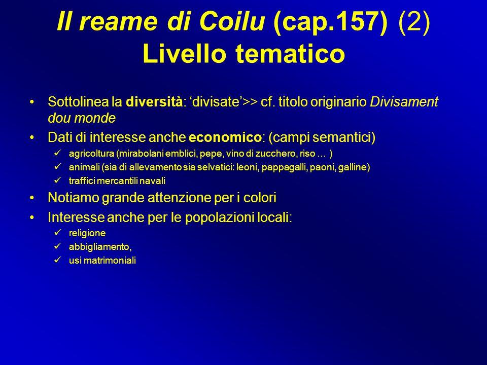 Il reame di Coilu (cap.157) (2) Livello tematico