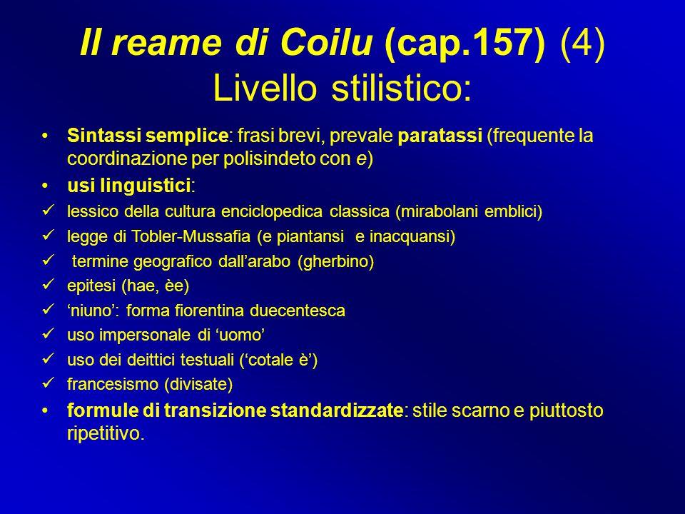 Il reame di Coilu (cap.157) (4) Livello stilistico: