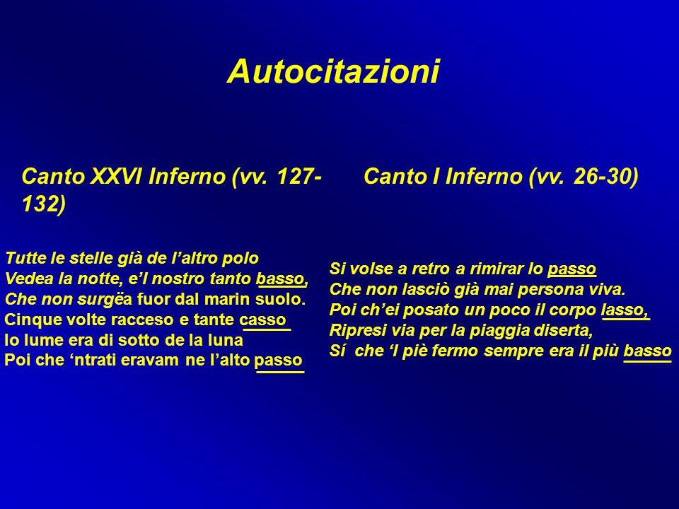 Autocitazioni Canto XXVI Inferno (vv. 127-132)