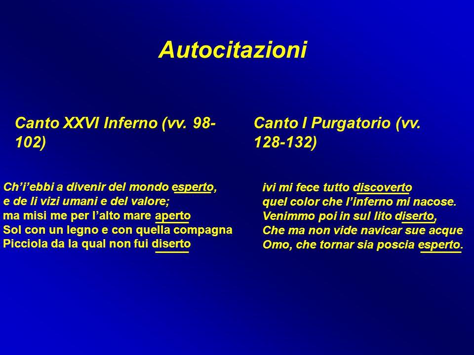 Autocitazioni Canto XXVI Inferno (vv. 98-102)