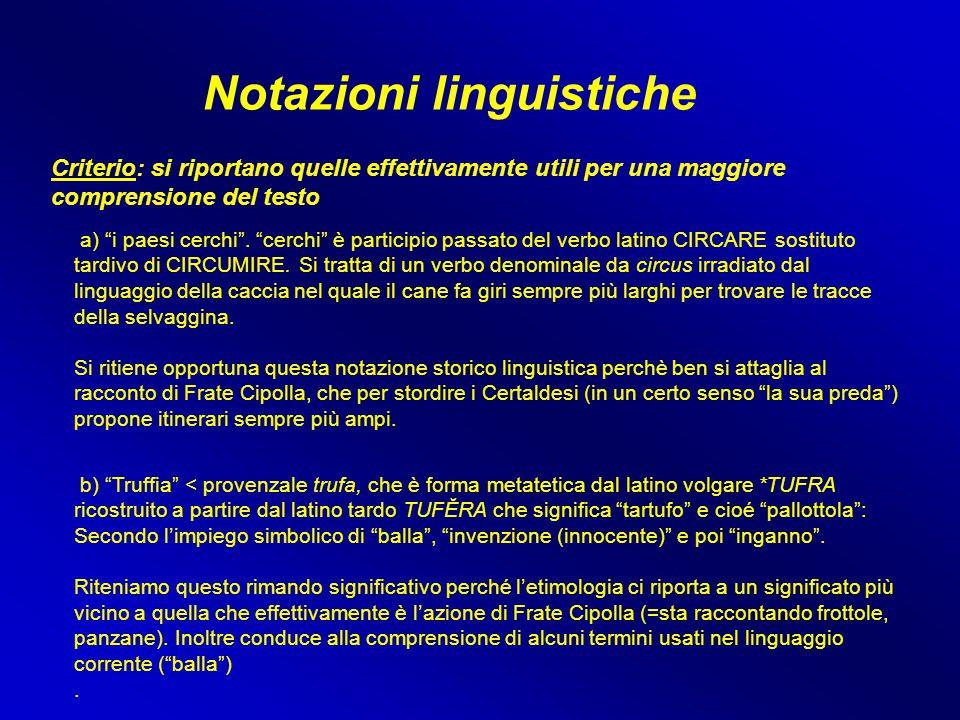 Notazioni linguistiche