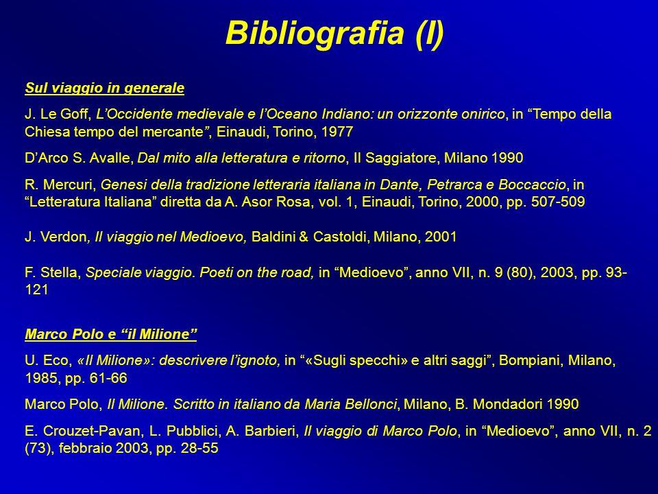 Bibliografia (I) Sul viaggio in generale