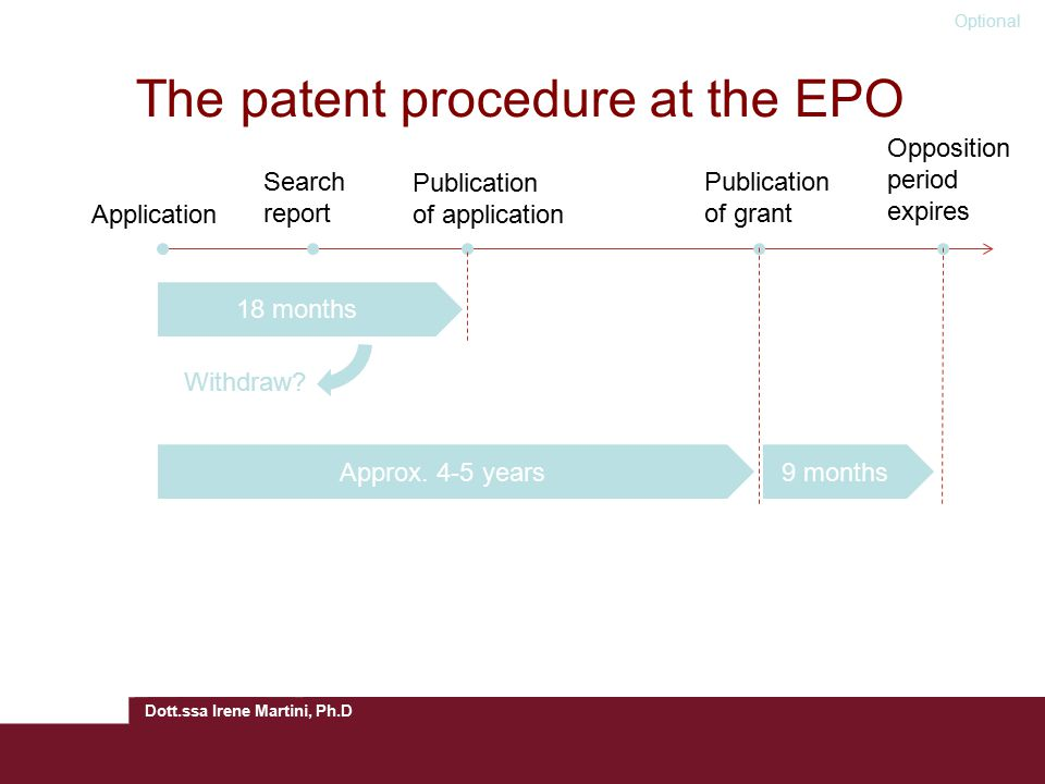 The patent procedure at the EPO