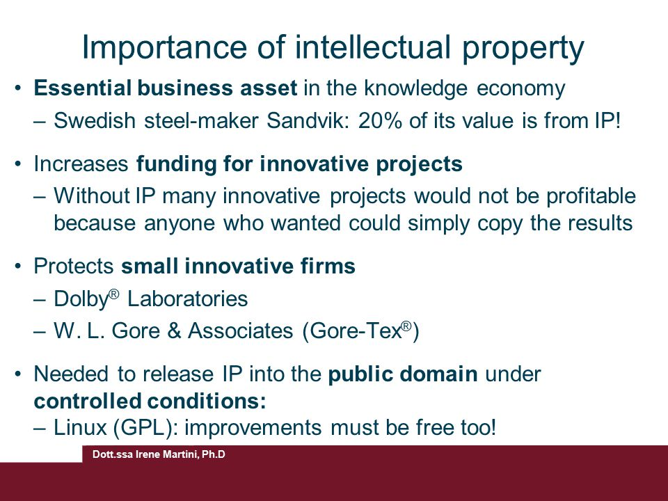 Importance of intellectual property