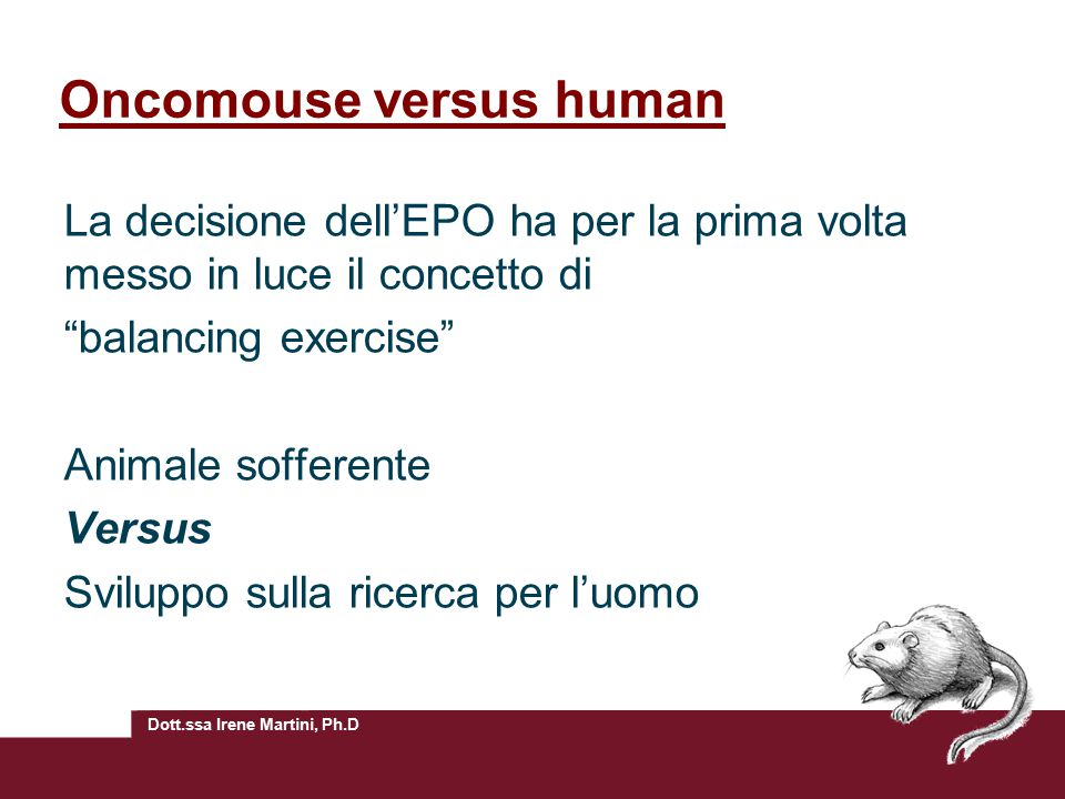 Oncomouse versus human