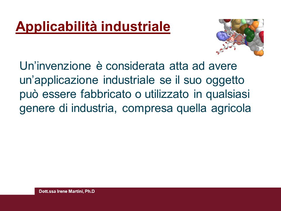 Applicabilità industriale