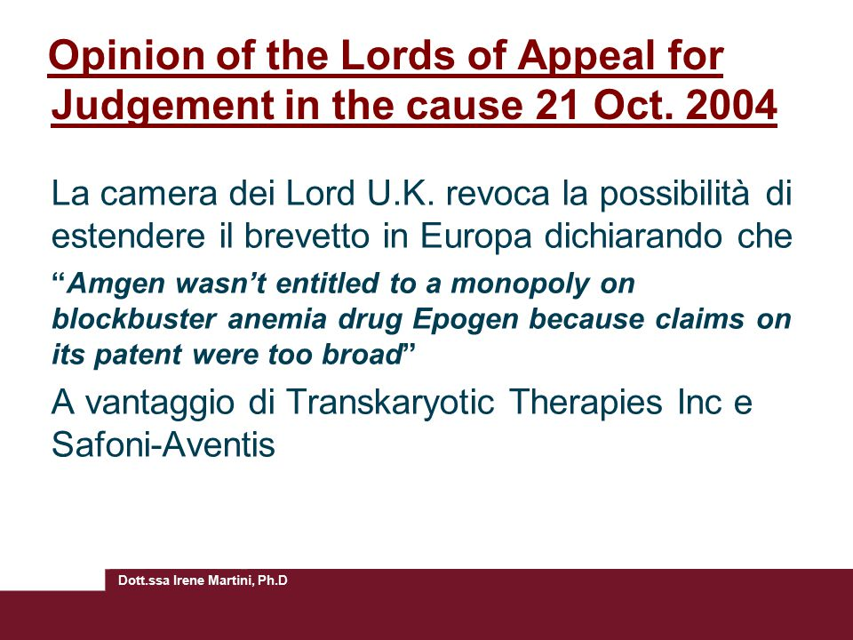 Opinion of the Lords of Appeal for Judgement in the cause 21 Oct. 2004