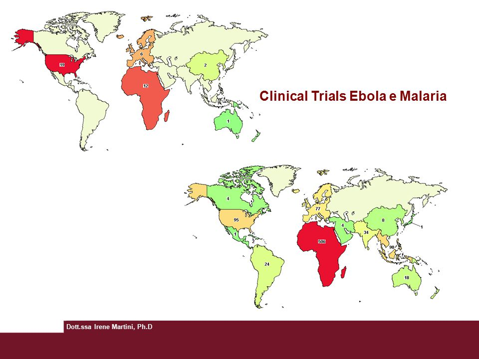 Clinical Trials Ebola e Malaria