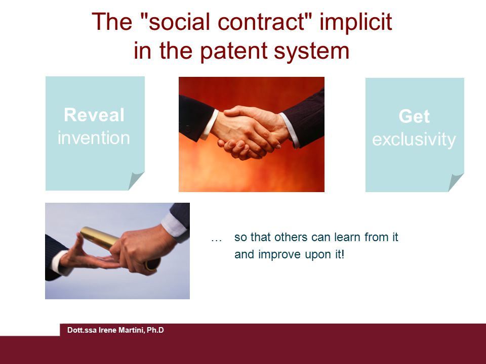 The social contract implicit in the patent system