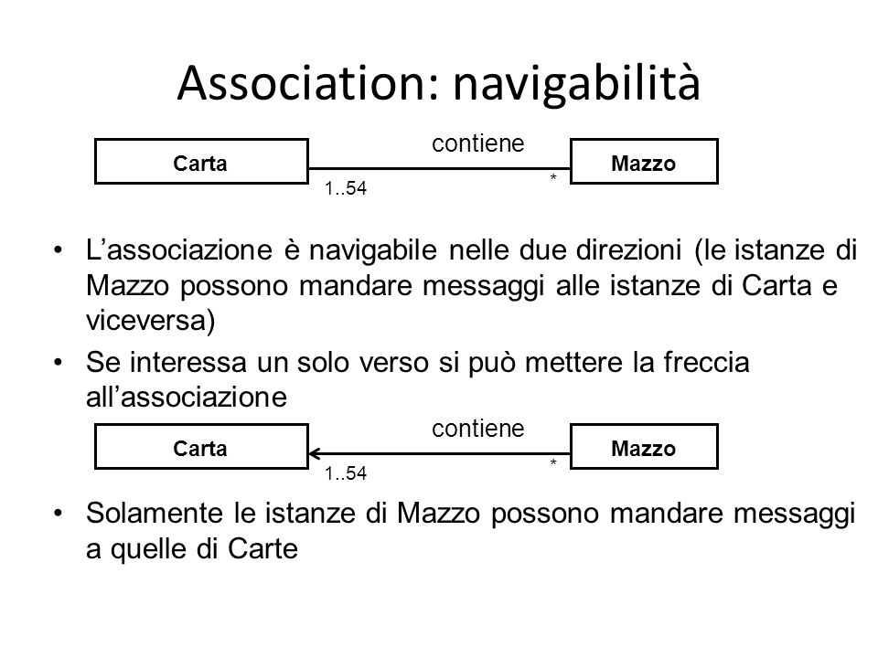 Association: navigabilità