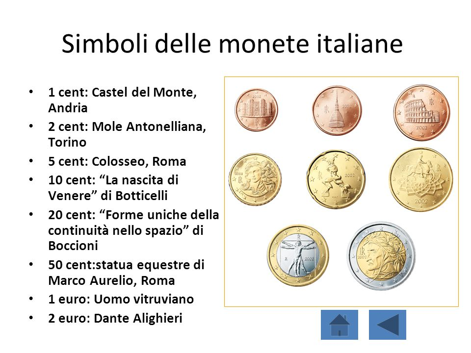 Simboli delle monete italiane