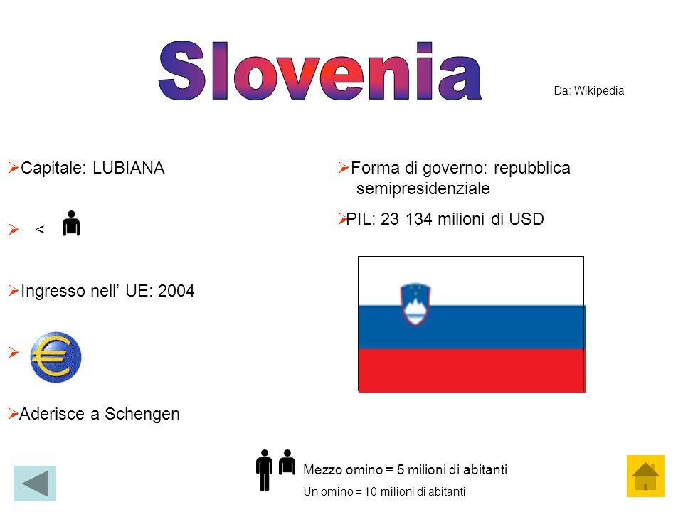 Slovenia Capitale: LUBIANA < Ingresso nell' UE: 2004