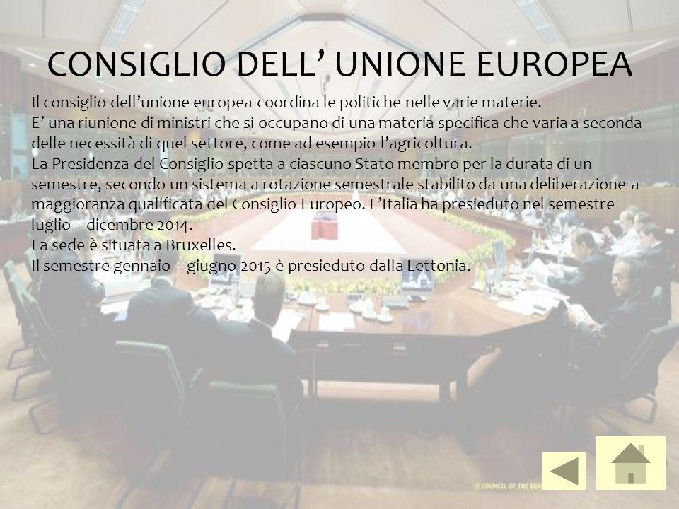 CONSIGLIO DELL' UNIONE EUROPEA