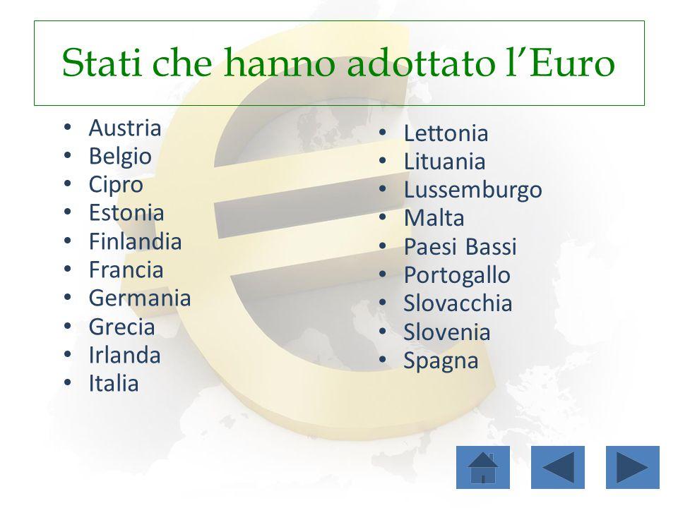 Stati che hanno adottato l'Euro