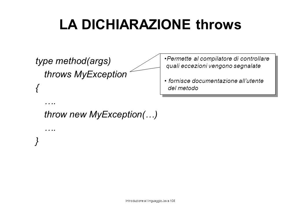 LA DICHIARAZIONE throws