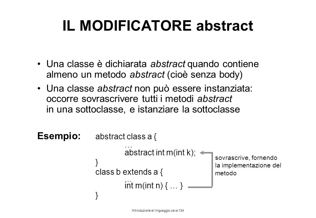 IL MODIFICATORE abstract