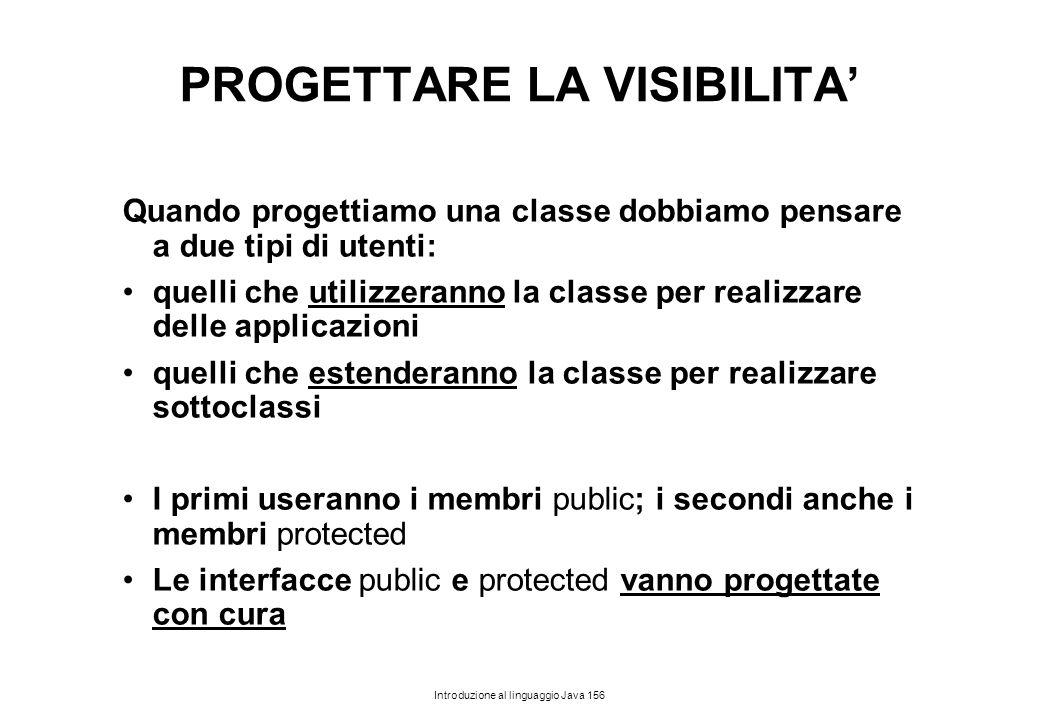 PROGETTARE LA VISIBILITA'